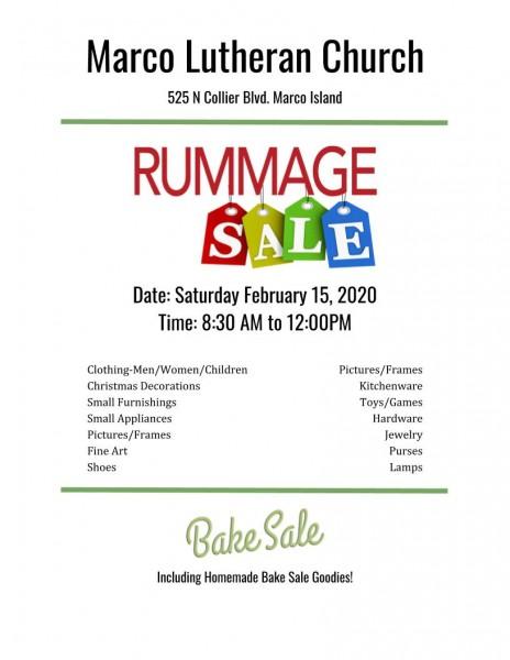 Marco Lutheran Church Rummage Sale