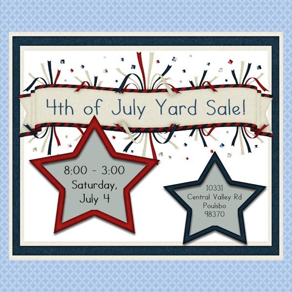 4th of July Yard Sale!