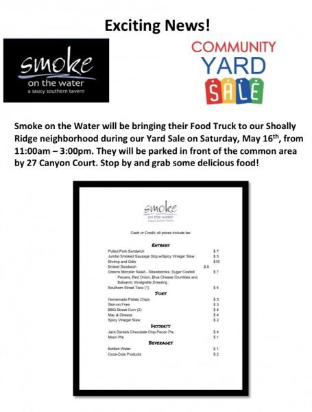 Shoally Ridge Subdivision Yard Sale