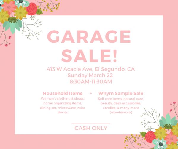 Garage Sale + Whym Sample Sale
