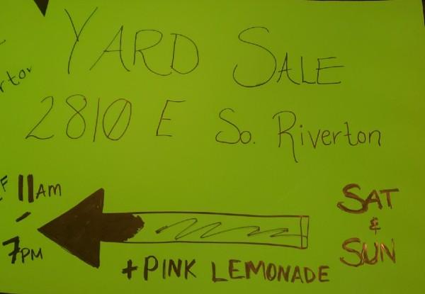 Cheap yard sale
