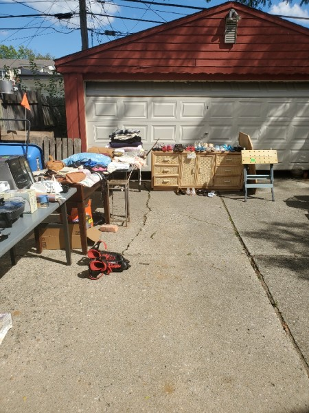 2 family yard sale! 20 tables!